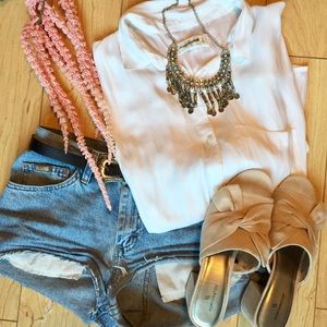 Flowy White Abercrombie Button Up